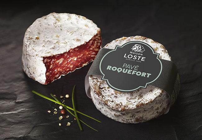 Saucisson sans boyau : le Pavé au Roquefort | Maison Loste