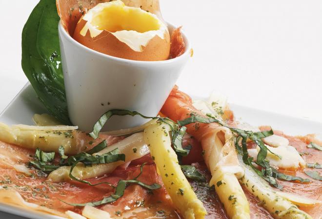 Carpaccio de jambon sec et asperges | Recette de cuisine Maison Loste