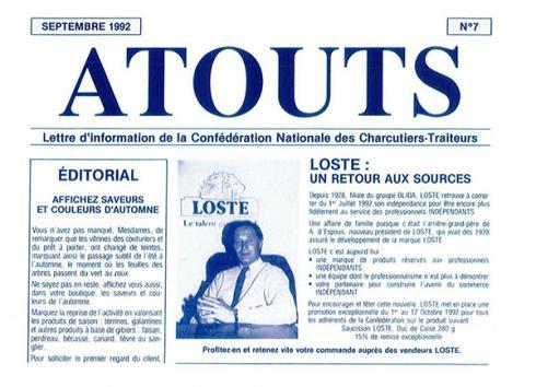 Histoire de la Maison Loste : année 1992
