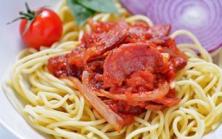 Recette de spaghetti au chorizo | Maison Loste